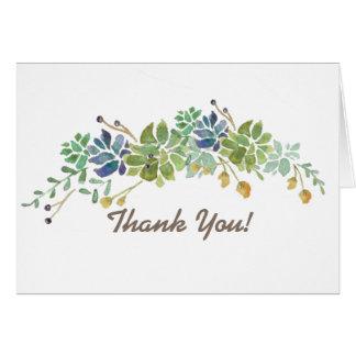 Succulent Bouquet | Thank You Card