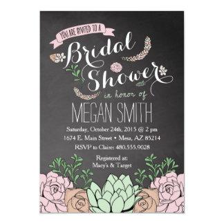 Succulent Bridal Shower Invitation