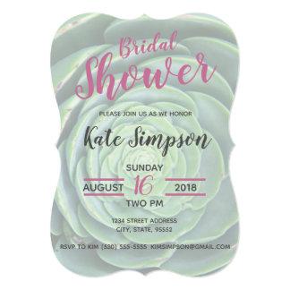Succulent bridal shower invite