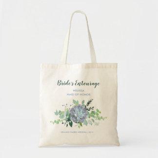 Succulent Bride's Entourage Bag