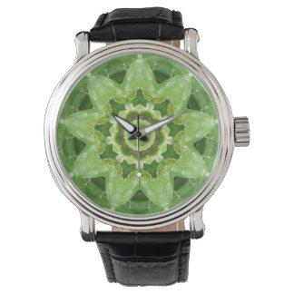Succulent Cactus Star Fractal Watch