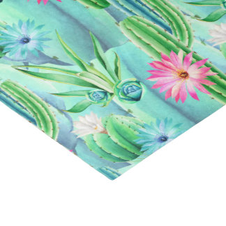 Succulent floral pattern party tissue tissue paper
