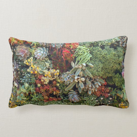 Succulent Garden 2 Lumbar Pillow
