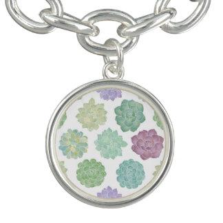 Succulent Garden Pattern Bracelet