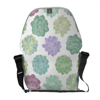 Succulent Garden Pattern Commuter Bag
