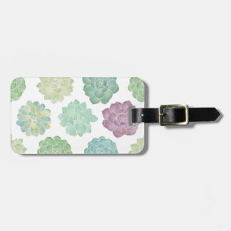 Succulent Garden Pattern Luggage Tag