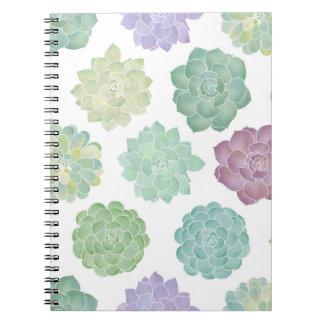 Succulent Garden Pattern Notebooks