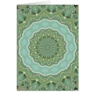 Succulent Mandala Card