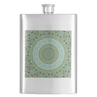 Succulent Mandala Hip Flask