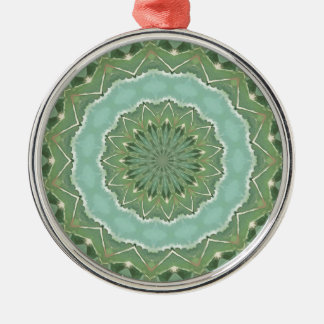 Succulent Mandala Metal Ornament