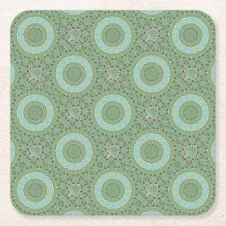 Succulent Mandala Square Paper Coaster
