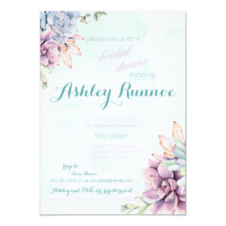 Succulent Party Invitation