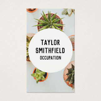 succulent plant grunge modern create business card
