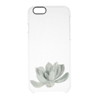 Succulent Plant Watercolor Painting Clear iPhone 6/6S Case