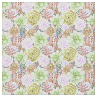 Succulent Plants | Watercolor Painting Fabric