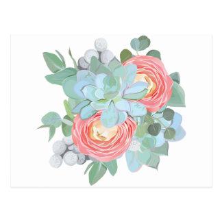 Succulent Postcard