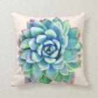 Succulent Print decorative pillow