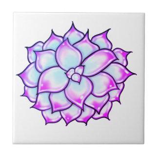Succulent - purple tile