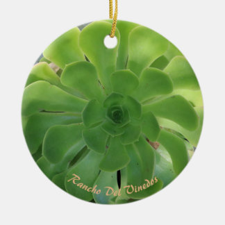 Succulent Rancho Del Vinedos ornament round