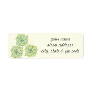 Succulent Return Address Labels