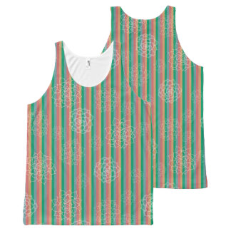 Succulent Stripes All-Over-Print Tank Top
