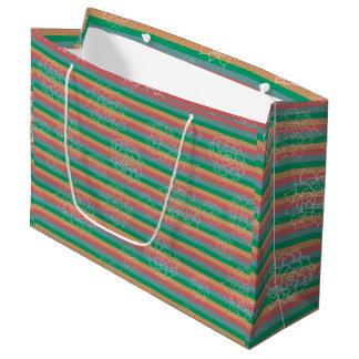 Succulent Stripes Large Gift Bag