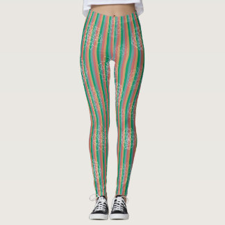 Succulent Stripes Leggings