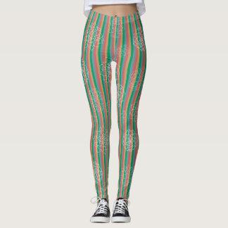 Succulent Stripes Leggings