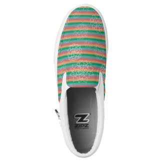 Succulent Stripes Slip-On Sneakers