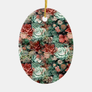 Succulent Succulents Ceramic Ornament