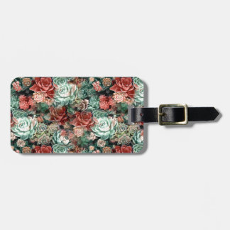 Succulent Succulents Luggage Tag