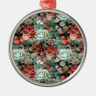 Succulent Succulents Metal Ornament