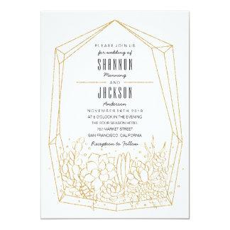 Succulent Terrarium Wedding Invitation