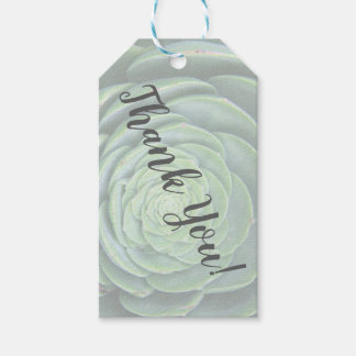 Succulent Thank You Gift Tags