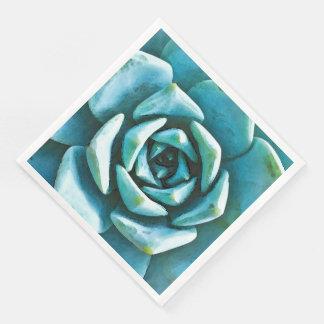 Succulent Watercolor Disposable Napkins
