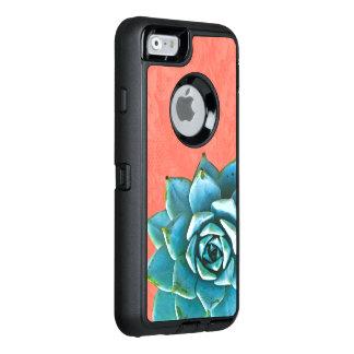 Succulent Watercolor Orange Lace OtterBox Defender iPhone Case
