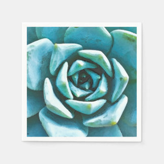 Succulent Watercolor Paper Napkins