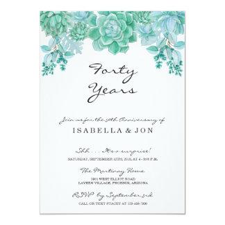 Succulent Wedding Anniversary Party Invitation