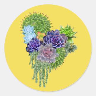 Succulent-wedding-bouquet Classic Round Sticker
