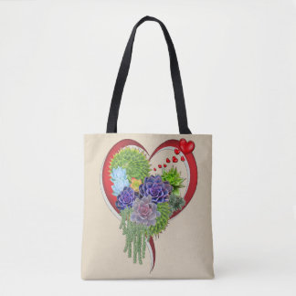 Succulent-wedding-lovers-bouquet Tote Bag