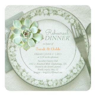 Succulent Wedding Rehearsal Dinner Invitation