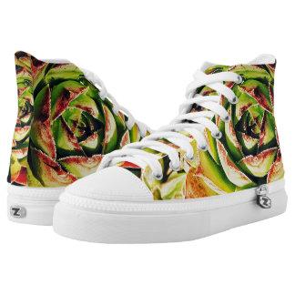 Succulent Zipz High Top Shoes