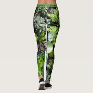 Succulents Botanical Leggings Womens Jogging Yoga