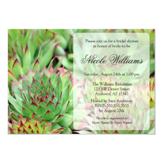 Succulents Bridal Shower Card