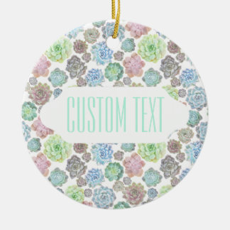 Succulents design custom ornament