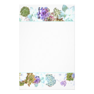 Succulents design stationery
