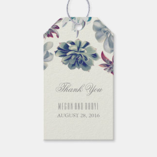 Succulents Floral Wedding Gift Tags