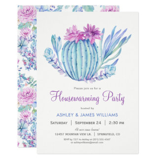 Succulents Housewarming Party Invitation