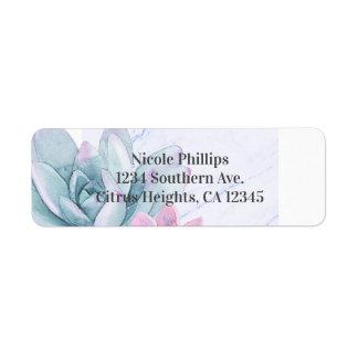 Succulents Modern Chic Marble Bridal Shower Fiesta