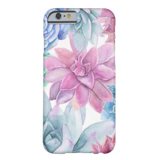 Succulents Modern Chic White Fiesta Garden Floral Barely There iPhone 6 Case